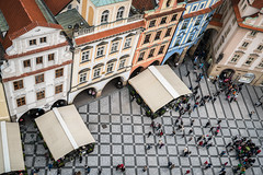 Above it all (McQuaide Photography) Tags: prague praag praha czechrepublic českárepublika czechia centraleurope europe sony a7rii ilce7rm2 alpha mirrorless 1635mm sonyzeiss zeiss variotessar fullframe mcquaidephotography adobe lightroom photoshop handheld light architecture building city capitalcity pov aerial elevated perspective viewpoint overhead above astronomicalclocktower tower oldtown staréměsto roof rooftop outdoor daytime houses people group groupofpeople unesco worldheritage oldtownsquare staroměstskénáměstí