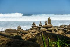 Kaui 235 DSC03742 (cpburt) Tags: kauai hawaii napalicoast kalalautrail hanakapiai beach stackedrocks