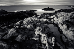 going coastal (Port View) Tags: fujixe2 baxtersharbour novascotia canada cans2s 2017 spring coast coastal shore rock rocky tide longexposure le blackandwhite bw mono monochrome water fundy fundyshore bayoffundy evening light