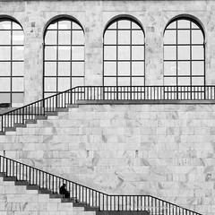 one (ignacy50.pl) Tags: man people architecture artphotography art arches stairs milan italy ignacy50 blackandwhite city cityscape cityview canon creative street