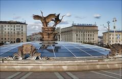 Минск, Беларусь, фонтан на площади Независимости (zzuka) Tags: минск беларусь minsk belarus
