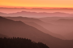 Yosemite sunset (snowyturner) Tags: twilight california yosemite landscape mountains compression layers trees