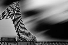 Styria Media Center (Bernhard Sitzwohl) Tags: mediacenter styria austria graz architecture longexposure outdoor modern urban bw black white pattern structure