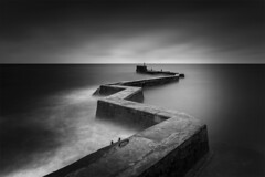 St Monans Pier, St Monans, Fife, Scotland. (Gary Alexander landscapes) Tags: monochrome moody atmosphere angle atmospheric absolutelystunningscapes black white density neutral neutraldensity l landscape lens land location leading lines fife st monans