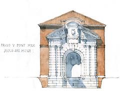 Ferrare 2017 (gerard michel) Tags: italia italy ferrara architecture porte sketch croquis aquarelle watercolour