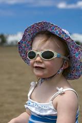 Emily in a hat (dan.oxlade) Tags: d40 nikkor nikkor50mm118g beach child polarisingfilter nikon lanzarote spain holiday
