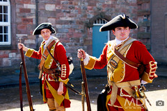 Hat Men II (mikepeters) Tags: berwickupontweed history people redcoats infantry army british 17thcentury berwick barracks military display uniform hatmen grenadiers soldier musket march parade museum livinghistory northumberland