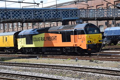 DSC_0548 Doncaster Railway Station Colas Rail Freight Locomotive 67027 (photographer695) Tags: doncaster railway station colas rail freight locomotive 67027 subsidiary french owned company bouygues sa