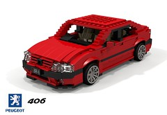 Peugeot 406 Saloon (lego911) Tags: peugeot psa 406 saloon sedan 1995 1990s france french berline auto car moc model miniland lego lego911 ldd render cad povray lugnuts challenge 115 thefrenchconnection connection foitsop