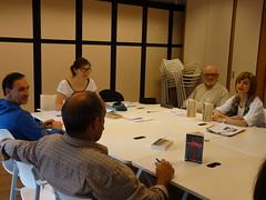 En la imagen, una reunión del club de lectura en francés.