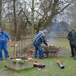 Arbeitsdienst an unserer Hütte