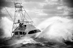 Pushing Through (srotag1973) Tags: arc strike ocean willis marine bw blackandwhite black white boat boats sportfish offshore rough atlantic floirda jupiter inlet