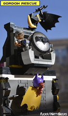 Gordon Rescue (WattyBricks) Tags: lego dc comics superheroes barbara batman batgirl gordon commissioner james jim gotham vignette banana