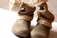 7DWF @ Shoe Tuesday (sarahellenspringer) Tags: 7dwf crazytuesday shoes texture fashion beige boots