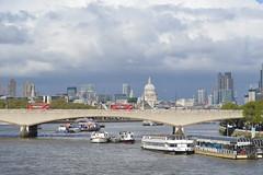 London skyline (lcfcian1) Tags: london riverthames river thames water waterway stpaulscathedral stpauls stpaulslondon bus bridge boats boat cranes