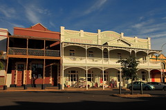 Exchange Hotel, Grenfell (Darren Schiller) Tags: grenfell architecture building balcony closed community evening empty facade goldrush history hotel heritage newsouthwales old rural smalltown streetscape
