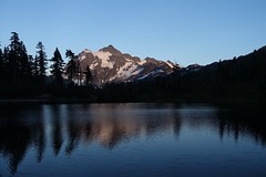 Mount Shuksan & Picture Lake (Sean Munson) Tags: alpenglow hiking lake landscape mountbakersnoqualmienationalforest mountshuksan mountain mtbakersnoqualmienationalforest mtshuksan nationalforest northcascades picturelake shuksan washington