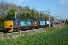 37218 and 37059 Heamies Farm 04/05/2017 (Brad Joyce 37) Tags: 37218 37059 6m63 class37 diesel locomotive engine drs freight doubleheader train slindon staffordshire sunshine bestshotoftheday nikon d7100 bluesky