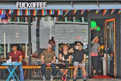 Bermondsey Street (gary8345) Tags: 2017 uk unitedkingdom greatbritain britain england london londonist shop shopping snapseed coffee coffeeshop fuckoffee