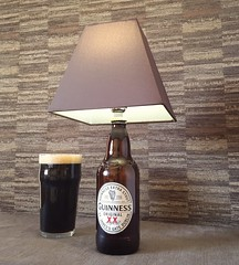 Guinness bottle lamp (Wattbottles) Tags: guinness bottle lamp bottlelamp boho steampunk decor gift present idea upcycle handmade etsy crafts design home bar stout beer