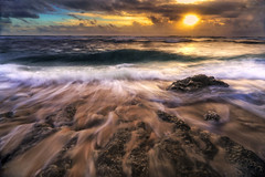 BS0I5345 (jeridaking) Tags: slow shutter landscape seascape movement water sea horizon sky sun sunlight sand rocks wave filter nd8 cpl polarizer canon 1dx markii 1740 wide wideangleshot ralph matres jeridaking fortheloveofphotography pacific beach rock stone guiuan surf camp calicoan