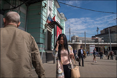 DR150511_389D (dmitry_ryzhkov) Tags: back blue conversation converse eye eyecontact phone sky station terminal art city europe russia moscow documentary journalism street urban candid life streetlife outdoor streetscene close scene streetshot image streetphotography candidphotography streetphoto moment light shadow photography shot people population resident inhabitant person live portrait streetportrait candidportrait unposed public face eyes look stranger woman women lady man men sony alpha color colors colour colours colourful colorstreet day daylight lights shadows motion movement pedestrian walk walker sidewalk