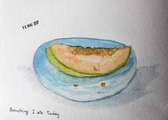May daily challenge 16 - Something I ate today (chando*) Tags: aquarelle watercolor croquis sketch