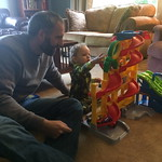 """Elijah and daddy playing with cars <a style=""""margin-left:10px; font-size:0.8em;"""" href=""""http://www.flickr.com/photos/124699639@N08/33911183893/"""" target=""""_blank"""">@flickr</a>"""