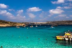Blue Lagoon II (emilqazi) Tags: blue lagoon island comino malta beach water sea seascape sky clouds landscape swimming swimmers ships boats sunny