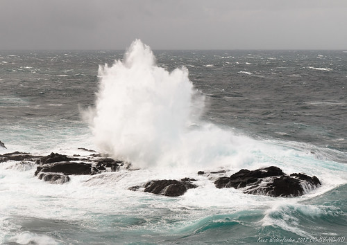 Gale force 8 from the north - Eshaness