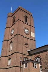 Chelsea Old Church (richardr) Tags: tower clock chelsea church kensingtonandchelsea kensingtonchelsea london building architecture england english britain british greatbritain uk unitedkingdom europe european history heritage historic old chelseaoldchurch
