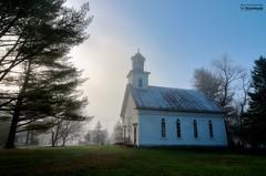 All Saints Church of Abercorn_HDR (le Brooklands) Tags: abercorn brume church d7000 église fog foggy hdr matin morning printemps québec sigma1224mm spring