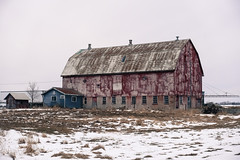 Red Barn (gabi-h) Tags: redbarn architecture farm rural rustic snow spring gabih princeedwardcounty windows windowswednesday