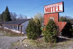 mccoy's motel (twurdemann) Tags: abandoned canada closed derelict detailextractor forsale fujixt1 highway17 ironbridge mccoysmotel mississagiriver northernontario roadtrip spring toad xf1855mm