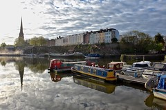 Bristol harbour (explored) (Nige H (Thanks for 8m views)) Tags: nature landscape cityscape harbour bristol bristolharbour sky reflection boats barge earlymorning morninglight