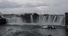Magnificent Iceland (danielfj91) Tags: iceland nature landscape water river stream waterfall falls goðafoss north winter snow clouds symmetric