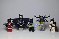 A Whole Universe of Bats (emperor.willmot) Tags: batman figbarf lego minifigures dc alien robot monster scientist wingsuit
