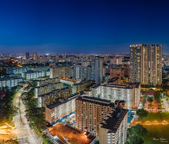 Toa Payoh North (Bryan.Chihan) Tags: landscapes cityscape singapore travel sony alpha a7rii urban cityscapes explore explorer panorama vertorama vertopano bluehour toa payoh heartlands nightscapes