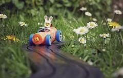 The Easter Bunny Returns Home (DeanoNC) Tags: daisy carrot rabbit minifigure easterbunny lego