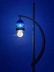Moon Light (Langstone Joe) Tags: fullmoon oldportsmouth bluehour lightbulb