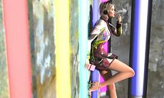 Processed Beats (Opale Lily) Tags: lfe wholewheat bauhaus spritskins barberyumyum blond music neons smoker purple