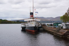 Maid of the Loch Balloch Pier 28 Apr 17 (kettledrummle) Tags: paddlesteamer maidoftheloch lochlomond ballochpier