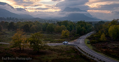 Genadendal Road Sunrise (Panorama Paul) Tags: paulbruinsphotography wwwpaulbruinscoza southafrica westerncape genadendal greyton overberg sunrise road intersection vehicle nikond800 nikkorlenses nikfilters panorama