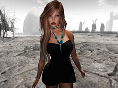 Standing Tall as Time Fades Away (Kathrine1993 SL) Tags: timeless secondlife black white color
