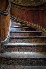 Stairs of St Liborius (Wits End Photography) Tags: stairs staircase architecture abandoned decay church dusty skateboard color peeling colorful