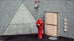 the hydrant in the pyramid corner (dan.boss) Tags: corner urban banal hydrant strasbourg alsace france