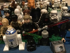 LEGO Star Wars Minifigures (splinky9000) Tags: kingston ontario star wars may the 4th be with you fourth force toys collectibles lego minifigures holiday chewbacca wookie luke skywalker darth maul vader c3po r2d2 han solo carbonite mon mothma stormtrooper chirrut imwe