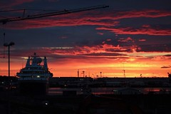 Drama in the Sky (Rajesh_India) Tags: iceland red reykjavik sunset