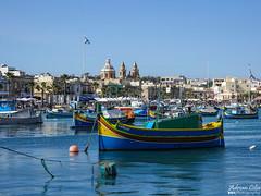 Marsaxlokk --- Malta (Drinu C) Tags: adrianciliaphotography sony dsc rx10iii rx10 mk3 marsaxlokk malta landscape seascape boat sea