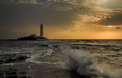 SPLASH! (lynneberry57) Tags: stmaryslighthouse whitleybay uk waves tide movement splash canon 70d leefilters coast seascape landscape island nature light sunrise clouds sky
